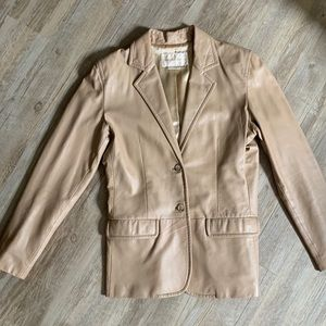 Vintage Margaret Godfrey Leather Jacket Blazer 6